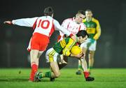 16 February 2008; Tom O'Sullivan, Kerry, in action against Colm Cavanagh, left, and PJ Quinn, Tyrone. Allianz National Football League, Division 1, Round 2, Kerry v Tyrone, Austin Stack Park, Tralee, Co. Kerry. Picture credit; Brendan Moran / SPORTSFILE