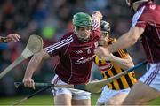 8 March 2015; Greg Lally, Galway, in action against Mathew Ruth, Kilkenny. Allianz Hurling League, Division 1A, Round 3, Galway v Kilkenny, Pearse Stadium, Galway. Picture credit: Ray Ryan / SPORTSFILE