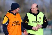 17 February 2008; Antrim joint managers, Dominic McKinley, and Terence McNaughton. Allianz National Hurling League, Division 1A, Round 2, Antrim v Wexford, Dunloy, Co. Antrim. Picture credit; Oliver McVeigh / SPORTSFILE