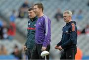 7 March 2015; Cork coach David Matthews, centre, with manager Jimmy Barry Murphy, left, and selector Seánie McGrath. Allianz Hurling League, Division 1A, Round 3, Dublin v Cork. Croke Park, Dublin. Picture credit: Piaras Ó Mídheach / SPORTSFILE