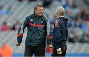 7 March 2015; Cork manager Jimmy Barry Murphy, left, with selector Seánie McGrath. Allianz Hurling League, Division 1A, Round 3, Dublin v Cork. Croke Park, Dublin. Picture credit: Piaras Ó Mídheach / SPORTSFILE