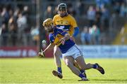8 March 2015; Kieran Bergin, Tipperary, in action against Patrick Donnellan, Clare. Allianz Hurling League, Division 1A, Round 3, Clare v Tipperary. Cusack Park, Ennis, Co. Clare. Picture credit: Diarmuid Greene / SPORTSFILE
