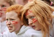 29 February 2008; Alexandra College fans watch the dying moments of the match. Leinster Hockey Senior Cup Final, Alexandra College v Loreto Beaufort, Grange Road, Rathfarnham, Co.Dublin. Picture credit: Brian Lawless / SPORTSFILE