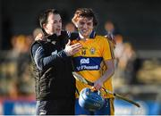 14 March 2015; Clare's Shane O'Donnell and selector Louis Mulqueen celebrate their team's victory over Dublin. Allianz Hurling League Division 1A Round 4, Clare v Dublin. Cusack Park, Ennis, Co. Clare. Picture credit: Diarmuid Greene / SPORTSFILE