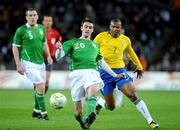 6 February 2008; Darren Potter, Republic of Ireland, in action against Julio Baptista, Brazil. International Friendly, Republic of Ireland v Brazil, Croke Park, Dublin. Picture credit; Brian Lawless / SPORTSFILE