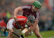 15 March 2015; Paudie O'Sullivan, Cork, in action against Greg Lally, Galway. Allianz Hurling League Division 1A Round 4, Galway v Cork. Pearse Stadium, Galway. Picture credit: Ray Ryan / SPORTSFILE