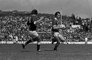 19 July 1981; Mikey Sheehy, Kerry in action against  Christy Ryan, Cork, Munster Senior Football Championship Final, Kerry v Cork, Fitzgerald Stadium, Killarney. Picture credit; Ray McManus/SPORTSFILE