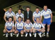 13 March 2008; Ballinderry Shamrocks GAC, Co. Derry, has taken the decision to support the principle of the Irish Government recognising the contribution that their 8 club representatives make to their club, their county, and their country by excelling as gaelic footballers. The players themselves have voluntarily offered to donate a proportion of any award to the Club's Adult Players fund which supports the costs of the team, medical and physio expenses for the 70 adult players in the club. Pictured are the players, back from left, Enda Muldoon, Kevin McGuckin, Camillius Quinn, Ballinderry Shamrocks GAC Club Chairman, James Conway, Niall McCusker, with front, from left, Conleath Gilligan, Michael McIver, Raymond Wilkinson and Colin Devlin. Ballinderry GAA club, Ballinderry, Co. Derry. Picture credit: Oliver McVeigh / SPORTSFILE