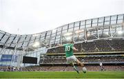 10 March 2012; Ireland out-half Jonathan Sexton kicks a conversion. RBS Six Nations Rugby Championship, Ireland v Scotland, Aviva Stadium, Lansdowne Road, Dublin. Picture credit: Brendan Moran / SPORTSFILE
