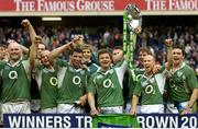 10 March 2007; Ireland captain Brian O'Driscoll lifts the Triple Crown after victory over Scotland. Six Nations Rugby Championship, Scotland v Ireland, Murrayfield Stadium, Edinburgh, Scotland. Picture credit: Matt Browne / SPORTSFILE
