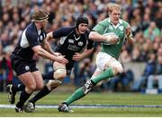 10 March 2007; Paul O'Connell, Ireland, breaks throught the Scotland defence. Six Nations Rugby Championship, Scotland v Ireland, Murrayfield Stadium, Edinburgh, Scotland. Picture credit: Brian Lawless / SPORTSFILE