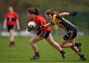 20 March 2015; Orla Devitt, UCC, in action against Deirdre Murphy, DCU. O'Connor Cup Ladies Football, Semi-Final, UCC v DCU. Cork IT, Bishopstown, Cork. Picture credit: Matt Browne / SPORTSFILE
