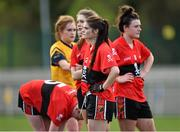 20 March 2015; Marie Ambrose, UCC, with her team-mates after the game. O'Connor Cup Ladies Football, Semi-Final, UCC v DCU. Cork IT, Bishopstown, Cork. Picture credit: Matt Browne / SPORTSFILE