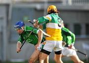 16 March 2008; Stephen Lucey, Limerick, in action against Ger Oakley, Offaly. Allianz National Hurling League, Division 1B, Round 4, Offaly v Limerick, Tullamore, Co. Offaly. Picture credit; David Maher / SPORTSFILE