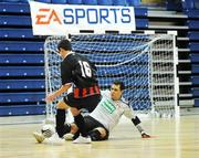 16 March 2008; Marcelo Weidtmann, St. Patrick's Athletic, in action against Juno Long, Bohemians. eircom League of Ireland Futsal League Final, Bohemians v St. Patrick's Athletic, National Basketball Arena, Tallaght. Co Dublin. Picture credit; Stephen McCarthy / SPORTSFILE