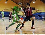 16 March 2008; Cathal Lordan, Cork City, in action against Marton Mucsanyi, Bohemians. eircom League of Ireland Futsal League Semi-Final, Bohemians v Cork City, National Basketball Arena, Tallaght, Dublin. Picture credit; Stephen McCarthy / SPORTSFILE