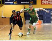 16 March 2008; Junior, Bohemians, in action against Shane Scanlon, Cork City. eircom League of Ireland Futsal League Semi-Final, Bohemians v Cork City, National Basketball Arena, Tallaght, Dublin. Picture credit; Stephen McCarthy / SPORTSFILE
