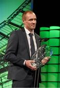 22 March 2015; Cork City's Colin Healy, winner of the SSE Airtricity player of the year award, at the 3 FAI International Football Awards. RTE Studios, Donnybrook, Dublin. Picture credit: David Maher / SPORTSFILE