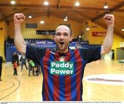 16 March 2008; Alexandru Gutu, St. Patrick's Athletic, celebrates after his side's victory. eircom League of Ireland Futsal League Final, Bohemians v St. Patrick's Athletic, National Basketball Arena, Tallaght. Co Dublin. Picture credit; Stephen McCarthy / SPORTSFILE
