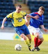 22 March 2008; John O Loughlin, Institute, in action against Jamie Mulgrew, Linfield. Carnegie Premier League, Linfield v Institute, Windsor Park, Belfast, Co. Antrim. Picture credit; Peter Morrison / SPORTSFILE