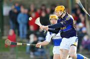 23 March 2008; Tipperary's Lar Corbett beats Laois's Conor Dunne to score his side's second goal. Allianz National Hurling League, Division 1A, Round 5, Tipperary v Laois, Leahy Park, Cashel, Co. Tipperary. Picture credit; David Maher / SPORTSFILE