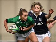 22 March 2015; Aoife Doyle, Ireland, is tackled by Lisa Martin, Scotland. Women's Six Nations Rugby Championship, Scotland v Ireland. Broadwood Stadium, Clyde FC, Glasgow, Scotland. Picture credit: Stephen McCarthy / SPORTSFILE