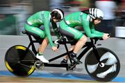 26 March 2015; Ireland's Katie-George Dunlevy and pilot Eve McCrystal in action during their Women's B 1km Time Trial Final, where they finished in 8th place with a time of 1:13.579. 2015 UCI Para-cycling Track World Championships. Omnisport Apeldoorn, De Voorwaarts 55, 7321 MA Apeldoorn, Netherlands. Picture credit: Jean Baptiste Benavent / SPORTSFILE