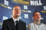 3 April 2008: William Hill Operations Manager Eddie Thompson, left, and Shamrock Rovers chairman Jonathan Roche at the Shamrock Rovers Football Club Offiical Bookmaker & Launch for Dublin. The Stag's Head, Dame Court, Dublin. Picture credit; Melanie Downes / SPORTSFILE