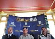 3 April 2008: Shamrock Rovers manager Pat Scully, right, club chairman Jonathan Roche, centre, with Eddie Thompson, Operations Manager William Hill Ireland, at the Shamrock Rovers Football Club Official Bookmaker launch. The Stag's Head, Dame Court, Dublin. Picture credit: Brian Lawless / SPORTSFILE  *** Local Caption ***
