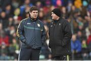 29 March 2015; Kerry manager Eamonn Fitzmaurice and selector Mikey Sheehy, right. Allianz Football League, Division 1, Round 6, Kerry v Monaghan. Austin Stack Park, Tralee, Co. Kerry. Picture credit: Stephen McCarthy / SPORTSFILE