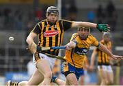 29 March 2015; Walter Walsh, Kilkenny, in action against Patrick Donnellan, Clare. Allianz Hurling League, Division 1A, Relegation Play-off, Kilkenny v Clare. Nowlan Park, Kilkenny. Picture credit: Ray McManus / SPORTSFILE