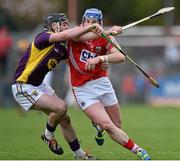 29 March 2015; Patrick Horgan, Cork, in action against Eoin Conroy, Wexford. Allianz Hurling League, Division 1, Quarter-Final, Cork v Wexford. Páirc Uí Rinn, Cork. Picture credit: Matt Browne / SPORTSFILE