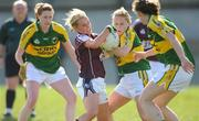 6 April 2008; Catriona Cormican, Galway, in action against Bernie Breen, Kerry. Suzuki Ladies National Football League Division 1 semi-final, Kerry v Galway , Cooraclare, Co Clare. Picture credit: Paul Mohan / SPORTSFILE