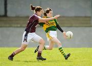 6 April 2008; Sarah Houlihan, Kerry, in action against Niamh Fahy, Galway. Suzuki Ladies National Football League Division 1 semi-final, Kerry v Galway, Cooraclare, Co. Clare. Picture credit: Paul Mohan / SPORTSFILE