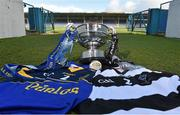 31 March 2015; A general view of the Croke Cup along with team jerseys from St Kieran's College, Kilkenny, and Thurles CBS, Co. Tipperary, ahead of the Masita GAA All-Ireland Post Primary Schools Croke Cup Final which will take place between Thurles CBS, Tipperary, and St. Kieran's College, Kilkenny, in Semple Stadium, Thurles, at 5pm on Saturday. Semple Stadium, Thurles, Co. Tipperary. Picture credit: Diarmuid Greene / SPORTSFILE