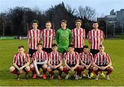 1 April 2015; The Derry City team. SSE Airtricity U19 League Enda McGuill Cup Final, UCD v Derry City. The UCD Bowl, UCD, Belfield, Dublin. Picture credit: Piaras Ó Mídheach / SPORTSFILE