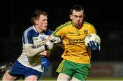 1 April 2015; Conor Parke, Donegal, in action against Ryan McAnespie, Monaghan. EirGrid Ulster U21 Football Championship, Semi-Final, Donegal v Monaghan, Healy Park, Omagh, Co Tyrone. Picture credit: Oliver McVeigh / SPORTSFILE
