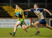 1 April 2015; Eoin McHugh, Donegal, in action against Fergal Malone, Monaghan. EirGrid Ulster U21 Football Championship, Semi-Final, Donegal v Monaghan, Healy Park, Omagh, Co Tyrone. Picture credit: Oliver McVeigh / SPORTSFILE