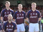 13 April 2008; Galway's Joe Canning, right, stands alongside team-mates Tony Og Regan, 3, Adrian Cullinane, 5, and Ger Farragher, 10, during the team photograph before his first senior inter-county game for Galway. Allianz National Hurling League, Division 1, semi-final, Cork v Galway, Gaelic Grounds, Limerick. Picture credit: Brendan Moran / SPORTSFILE