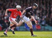 13 April 2008; Ton Og Regan, Galway, in action against Patrick Cronin, Cork. Allianz National Hurling League, Division 1, semi-final, Cork v Galway, Gaelic Grounds, Limerick. Picture credit: Brendan Moran / SPORTSFILE