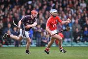 13 April 2008; Ronan Curran, Cork, in action against Joe Canning, Galway. Allianz National Hurling League, Division 1, semi-final, Cork v Galway, Gaelic Grounds, Limerick. Picture credit: Brendan Moran / SPORTSFILE