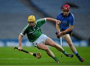 28 March 2015; Paul Browne, Limerick, in action against Niall McMorrow, Dublin. Allianz Hurling League, Division 1, Quarter-Final, Dublin v Limerick. Croke Park, Dublin. Picture credit: Ray McManus / SPORTSFILE