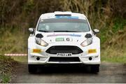 3 April 2015; Robert Barrable and Damien Connolly, in a Ford Fiesta RC2, in action during the SS4 of the Circuit of Ireland Rally 2015. Bucks Head, Downpatrick, Co. Down. Picture credit: Philip Fitzpatrick / SPORTSFILE