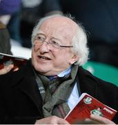 3 April 2015; President Michael D Higgins before the start of the game. SSE Airtricity League Premier Division, Shamrock Rovers v Galway United. Tallaght Stadium, Tallaght, Co. Dublin. Picture credit: David Maher / SPORTSFILE