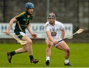 4 April 2015; Evan Dempsey, Kildare, in action against Cormac Reilly, Meath. Allianz Hurling League Division 2B Final, Kildare v Meath. Cusack Park, Mullingar, Co. Westmeath. Picture credit: Piaras Ó Mídheach / SPORTSFILE