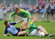 20 April 2008; Colin Moran, Dublin, in action against Caoimhin King, centre, and Graham Geraghty, Meath. Allianz National Football League, Division 2, Round 7, Dublin v Meath, Parnell Park, Dublin. Picture credit: David Maher / SPORTSFILE *** Local Caption ***