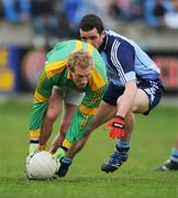 20 April 2008; Graham Geraghty, Meath, in action against Gerard Brennan, Dublin. Allianz National Football League, Division 2, Round 7, Dublin v Meath, Parnell Park, Dublin. Picture credit: David Maher / SPORTSFILE *** Local Caption ***