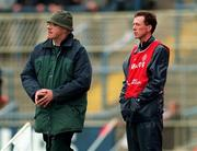 File Pic: The Tyrone management team of Art McRory (left)   and Eugene McKenna. Pic: Brendan Moran / SPORTSFILE.