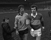 1981; Gay O'Driscoll, left, of Dublin and Mikey Sheehy of Kerry after the match at Croke Park in Dublin. Photo by Ray McManus/SPORTSFILE
