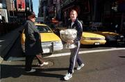 Kerry Captain Liam Hassett on his way to Times Square for a Photo call, New York, 17/10/97. Photograph Ray McManus SPORTSFILE